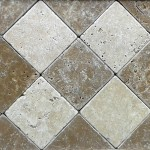 Travertin tumbled clasic-noce 10x10x1 cm