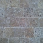 travertin noce tumbled 10x10x1 cm